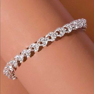 🌟 NEW Rhinestone glamorous Silver tone Bracelets